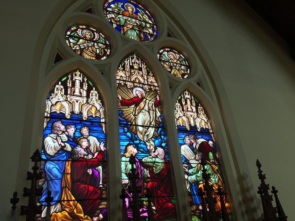 St Nicolas Anglican Church windows