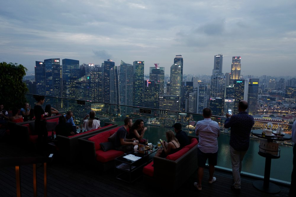 The view from    Ce La Vie    at    Marina Bay Sands