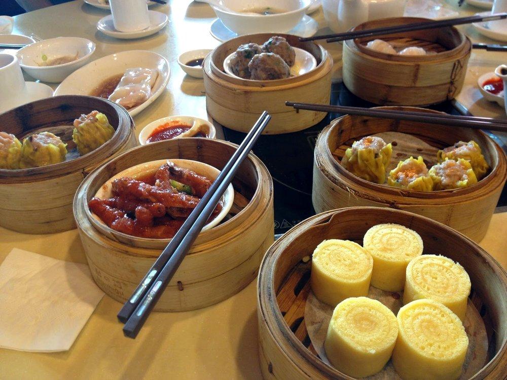 Dim sum spread at MingHin Cuisine
