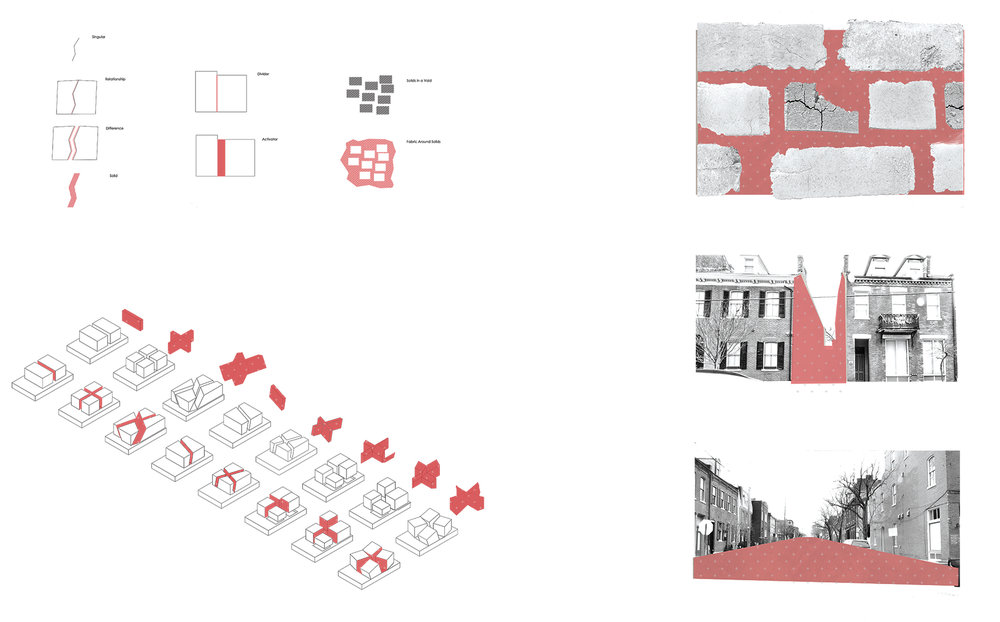 Makio developed the methods of breaking apart a cube from his eco-unit, this time in relationship to the scale and quality of gaps between buildings in the Soulard neighborhood of St. Louis.