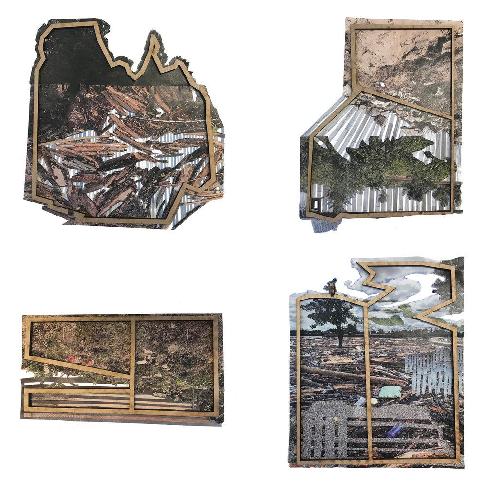 Virginia Eckinger, photo collage and mdf frame
