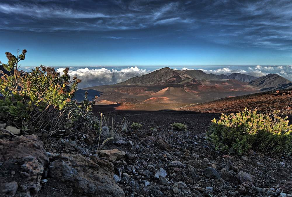 Summit View into Haleakalā Crater | HDR