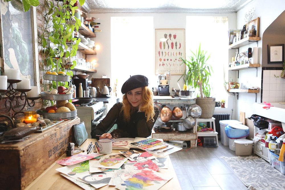 Brooklyn-Apartment-Tour-Meet-A-New-Girl-Interview-Illustrator-Gina-Schiappacasse-by-Melina-Peterson-5thfloorwalkup.com.jpg