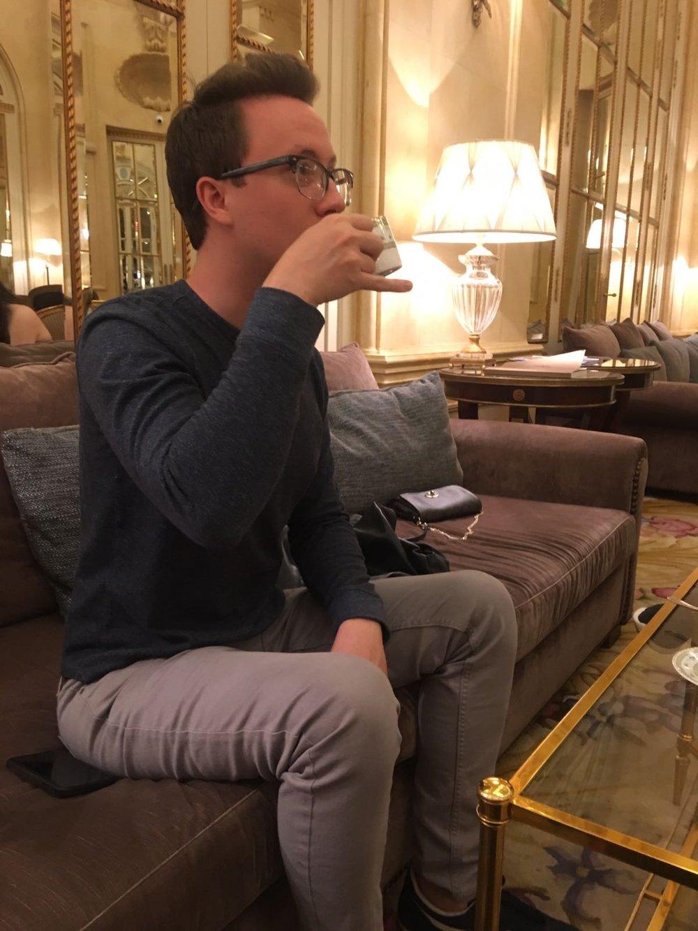 Proper drinking posture