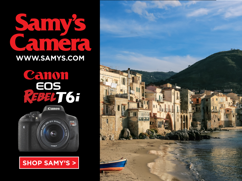 Since 1976, Samy's Camera has been the leader in camera gear and photography products throughout Southern California. Servicing both the professional and amateur photographer community,Samy's Camera's knowledgeable sales staff and exceptional customer service has resulted in a fiercely loyal clientele.