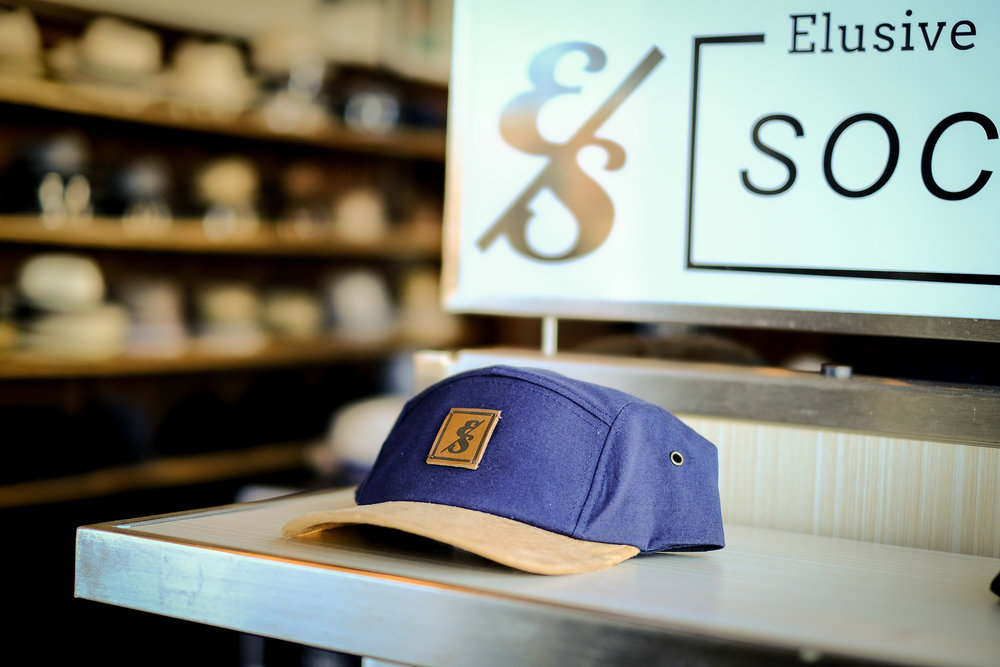No. 277 Navy 5 Panel Camper with suede bill.jpg