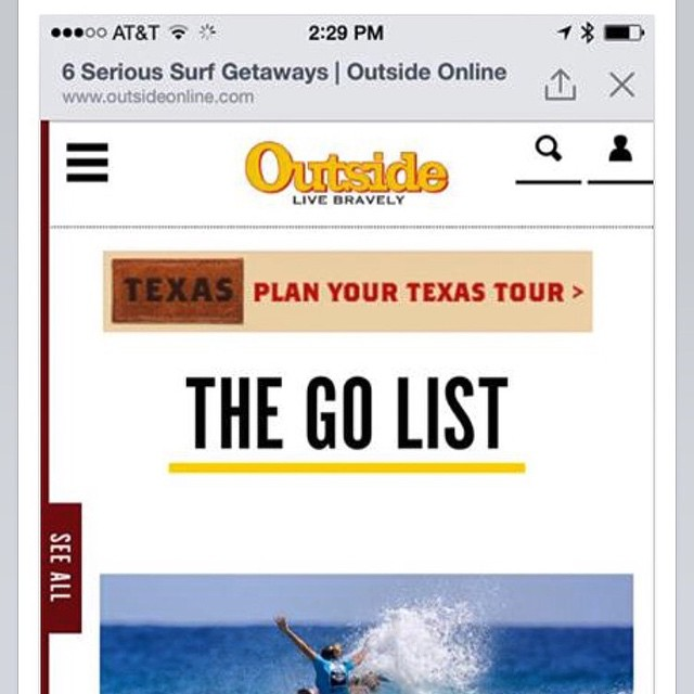 "Great article on Outside Magazine online featuring  Kelea Surf Spa ""6 Serious Surf Getaways"" Check it out!http://www.outsideonline.com/1978056/6-serious-surf-getaways-girls @outsidemagazine.com#surfinginHawaii#"