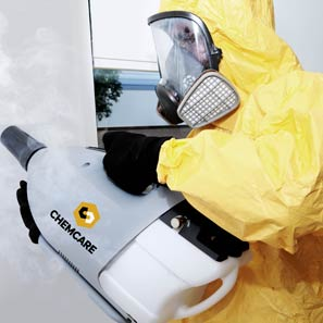 Decontaminating meth contamination with a special fogger machine