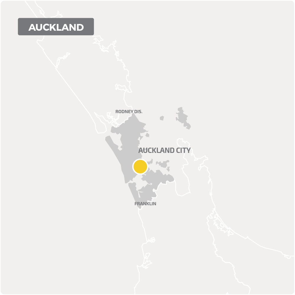 We cover Auckland for all decontamination services, as shown on this map.