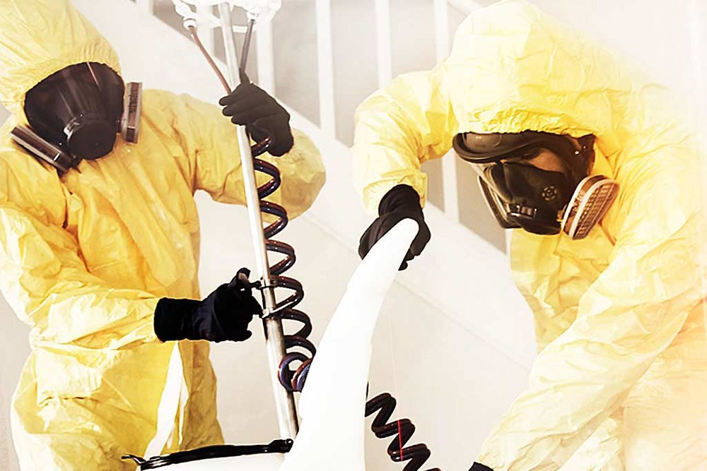 Two meth decontaminators cleaning up meth contamination