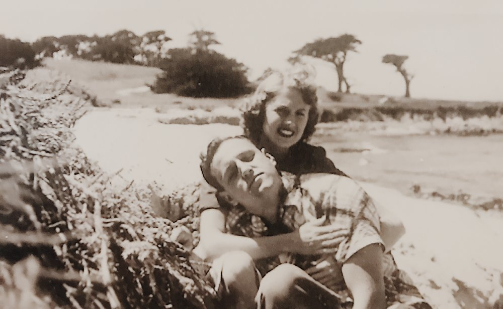 Jen's Grandparents, Helen and Grant Frezieres, Malibu 1952