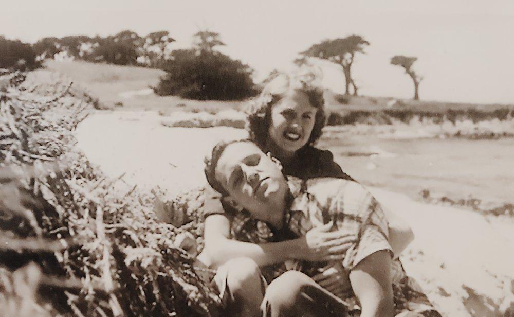 Jen's Grandparents, Helen and Grant Frezieres, Malibu 1952