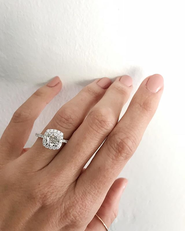 Cush it, cush it real good. • And the best part about this ring is that the cushion cut @diamondfoundry diamond comes without the social and environmental tolls of mining. 👍🏻