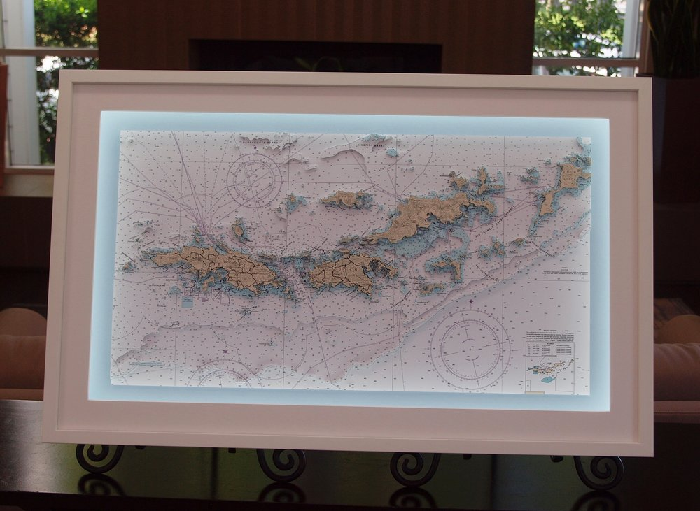 3D nautical chart of the British and American Virgin Islands by Neptune Maps