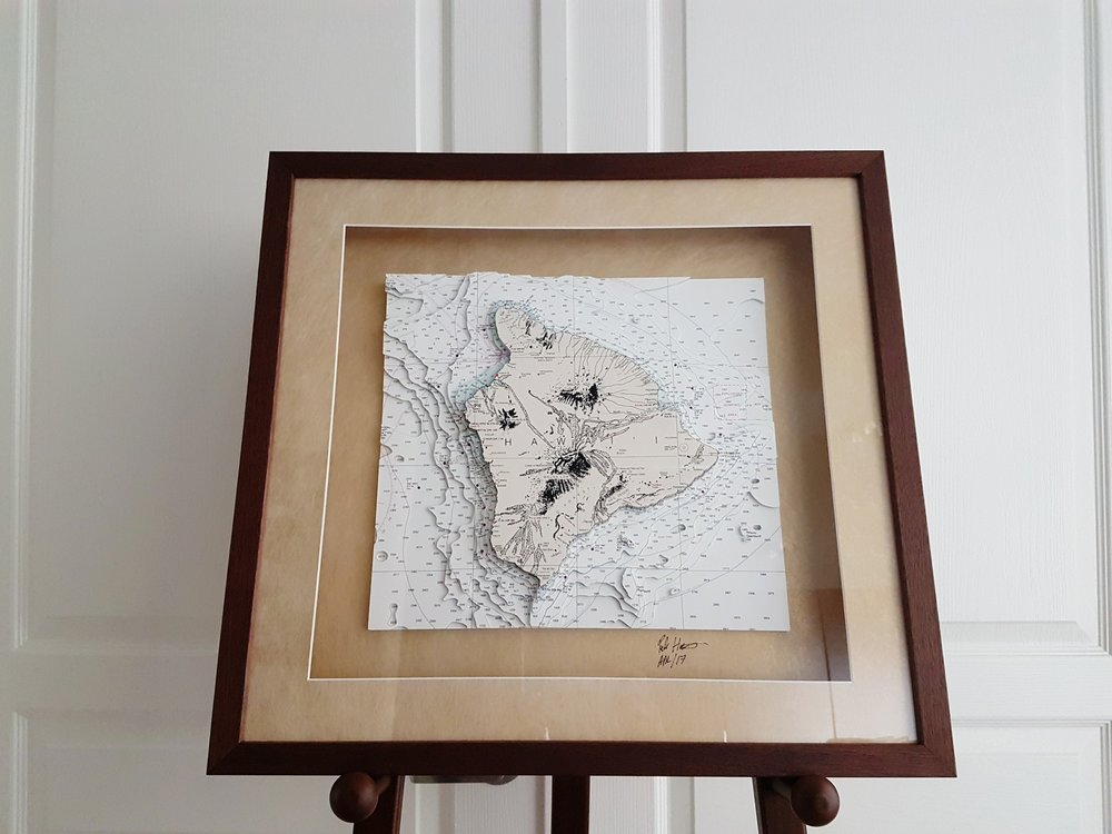3D Nautical chart of the Big Island, Hawaii, USA