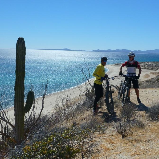 Mountain biking La Ventna Mexico Rancho Sotol