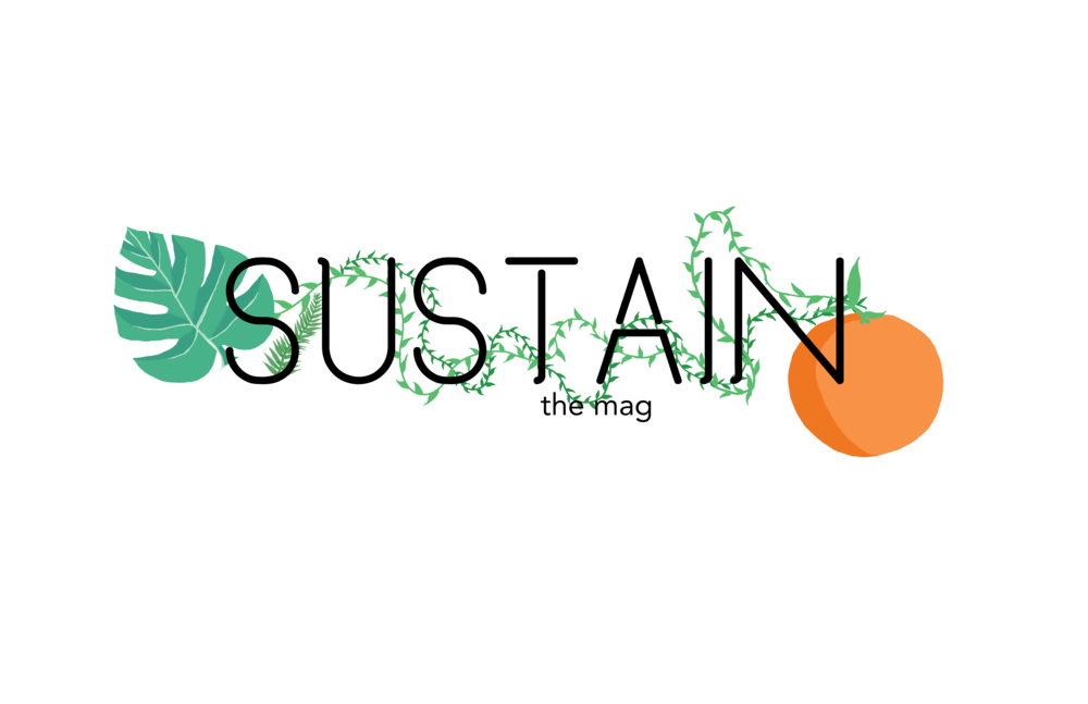 SUSTAIN  design for  SUSTAIN  launch party. April, 2018.