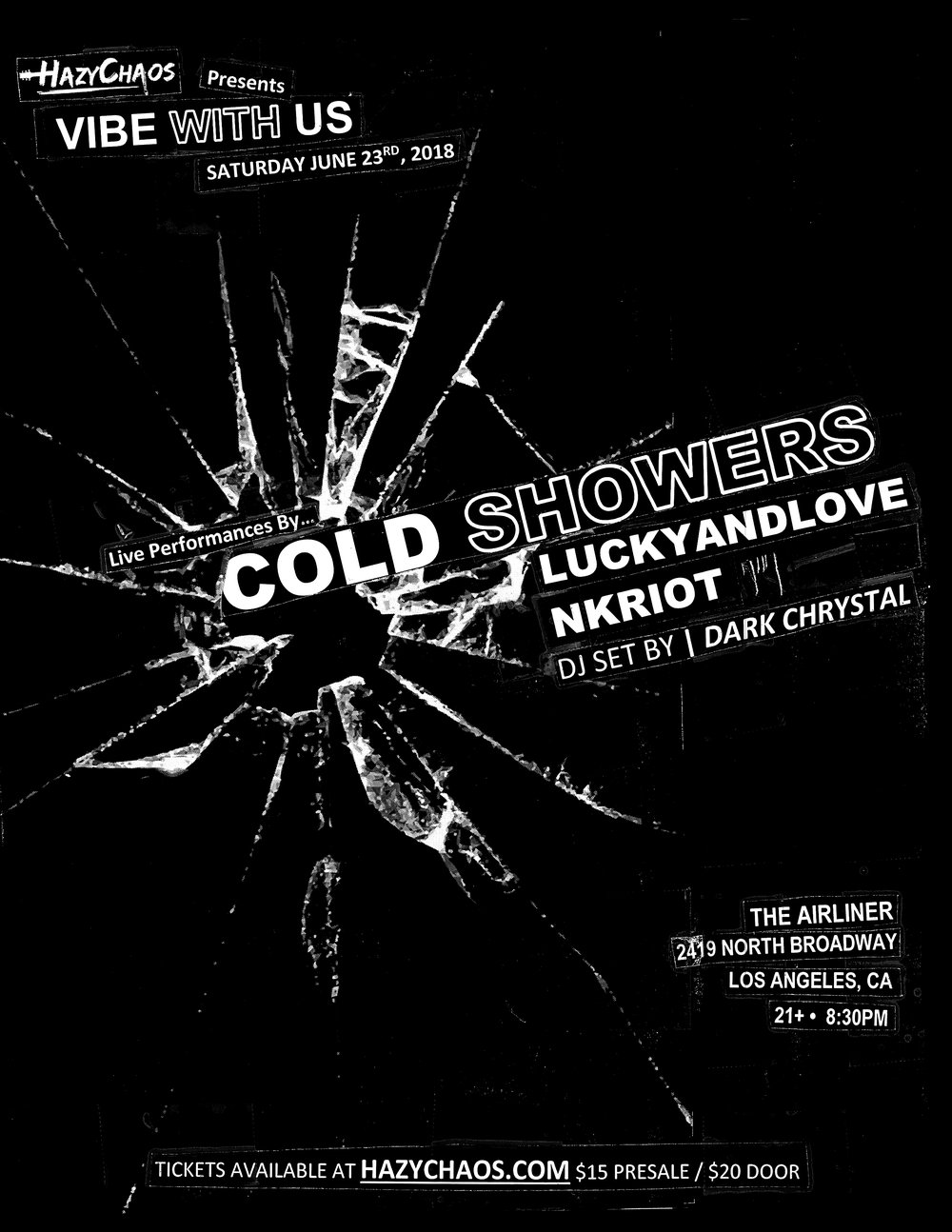 Cold Showers Flyer