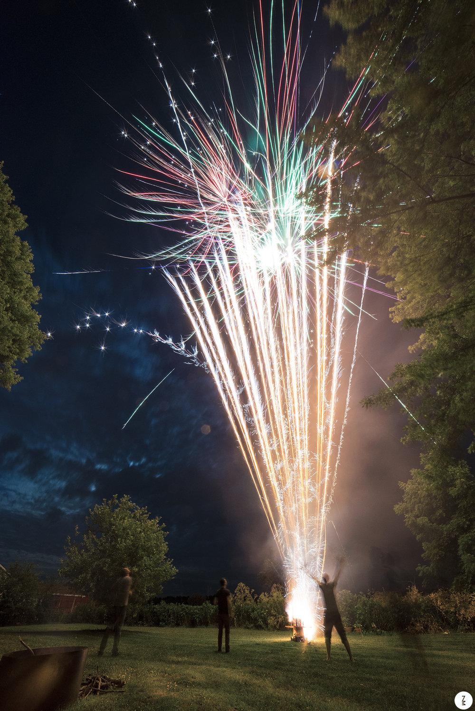 Bark Yard Fireworks   2014