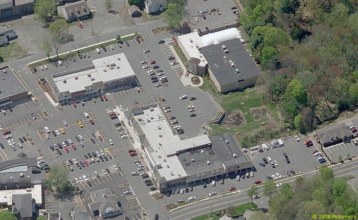 Arial view of Center Village, East Longmeadow, MA