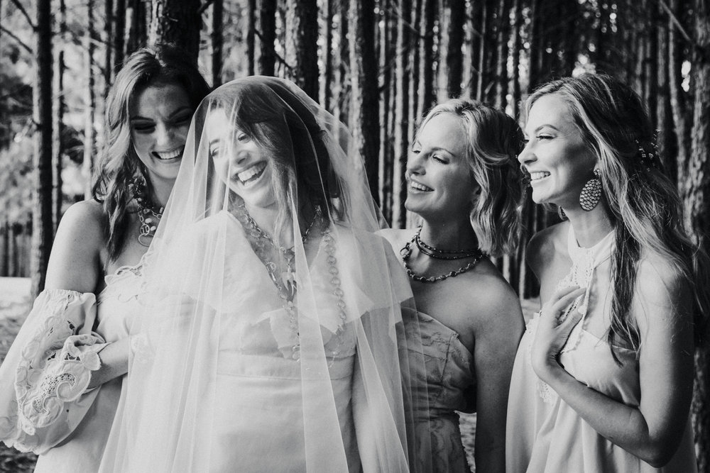 Bride Tribe - Every bride has a tribe. Don't forget the people who will stand by your side, hold your dress for those awkward bathroom trips, and those who held you from your first breath.