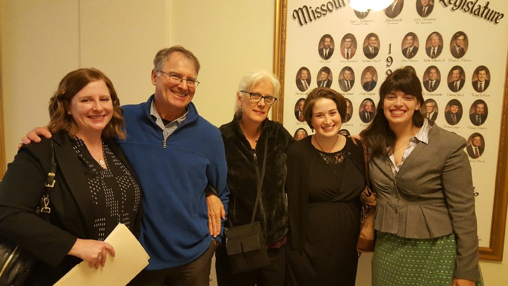 Me, Dan Mosby, Kathy Peterson, Rachel GOldberg, Sarah Baker of the ACLU. Photo by M'Evie Mead