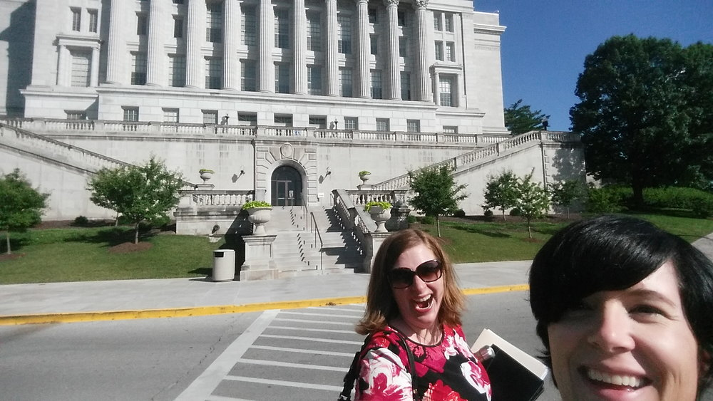 I jumped into Dana's selfie with the Capital building. We both were running on little sleep, no lunch, a 2.5 hour drive (so far) and a day of hearing bills and testimony. I just couldn't stop myself!