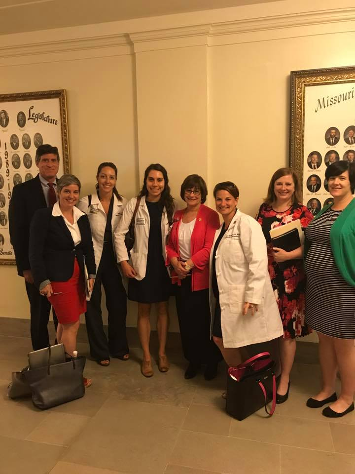 With others that testified against the Senate Bills that would restrict reproductive rights in Jefferson City, June 13, 2017, including my amazing friend Dana (far right).