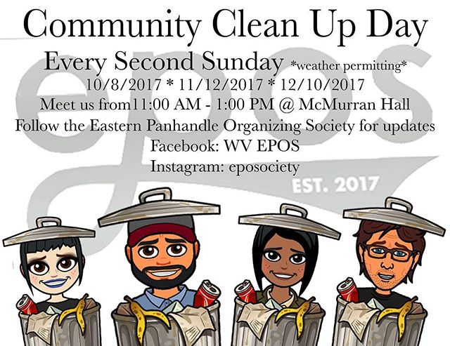 Hiiiiiiii!!!! This happens on Sunday! We will be at the Wall on German Street at 11:00 until 1:00! Come help us clean up the garbage in town! Last time we recovered about 4 or 5 large trash bags! We'll provide gloves and trash bags. We love you!