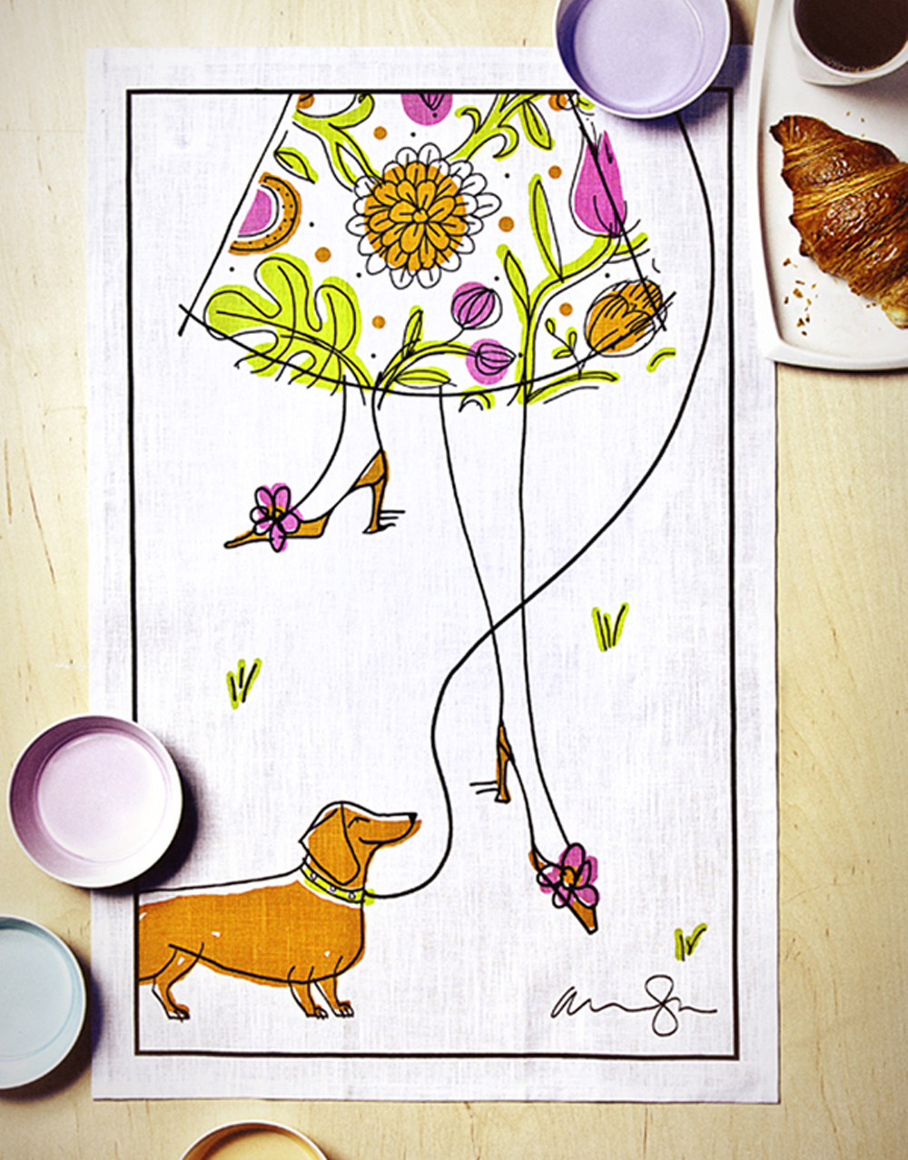 Spring tea towel for The Hudson's Bay