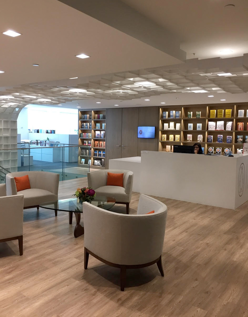 Gorgeous reception area!
