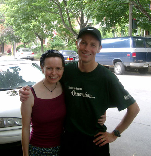 Shawn visiting me when I lived in Cabbagetown.