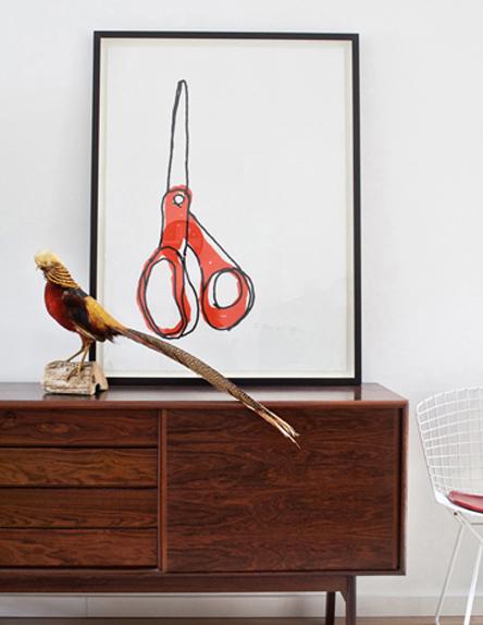 Framed Big Scissors — Alanna Cavanagh