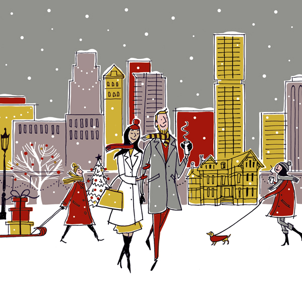 Holiday Card for Luxury rental building The Selby
