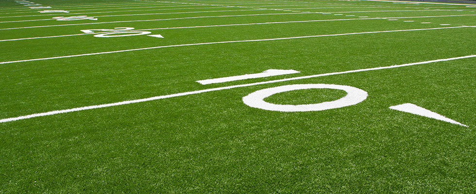 Synthetic turf field athletic