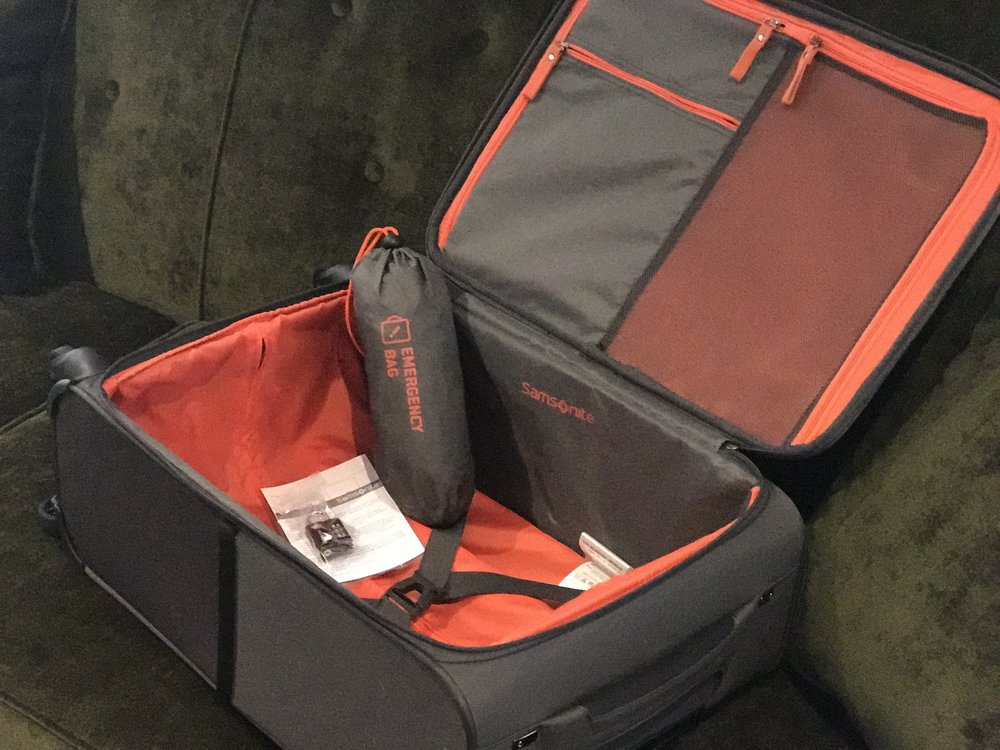My new Samsonite 1.5 kgs roll on cabin bag