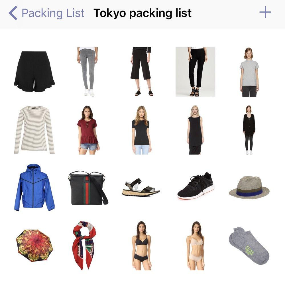My Tokyo wardrobe