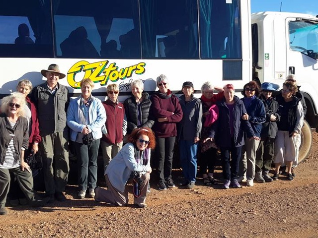 The OzTours group, with Josie in the front