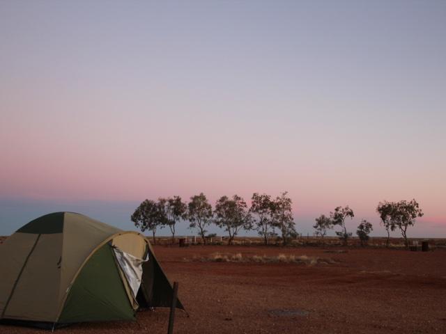 Sleeping in the desert