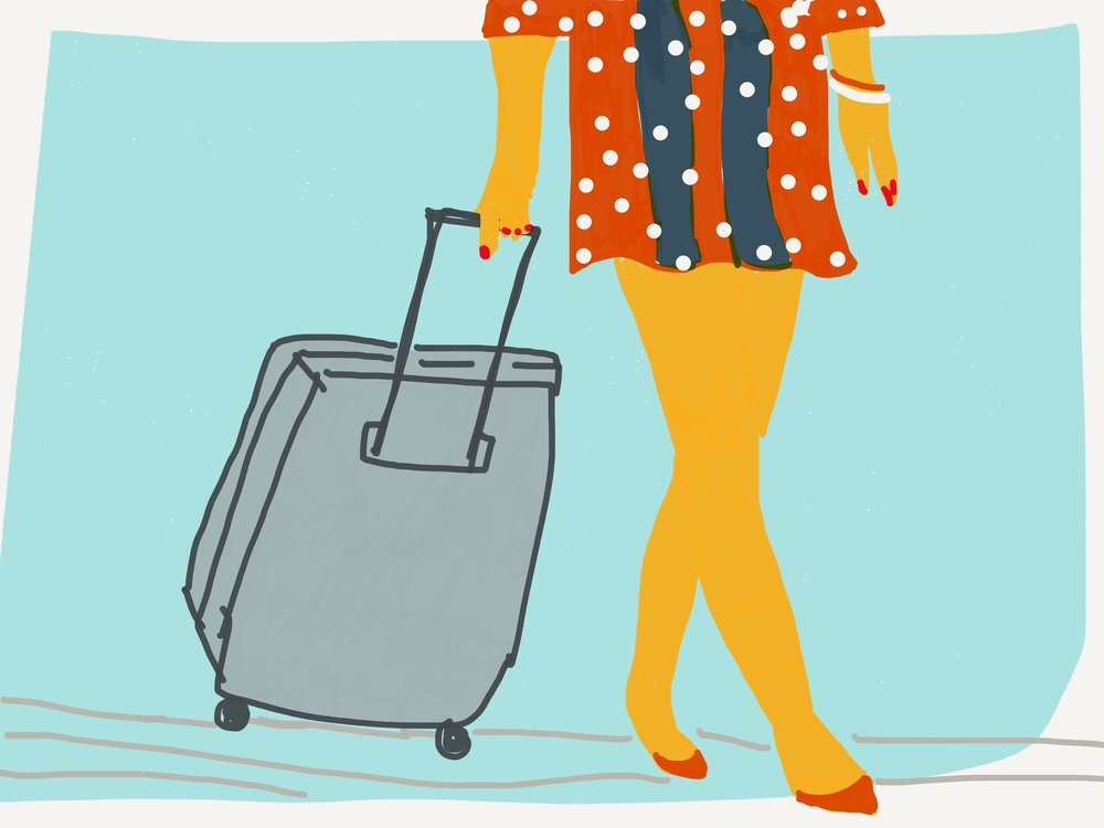 Arrive like a celebrity - with carry on luggage only