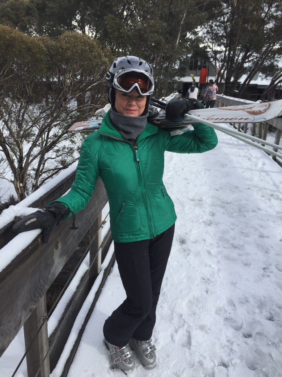 Susanne - packing right and light; rocking it on the ski slopes