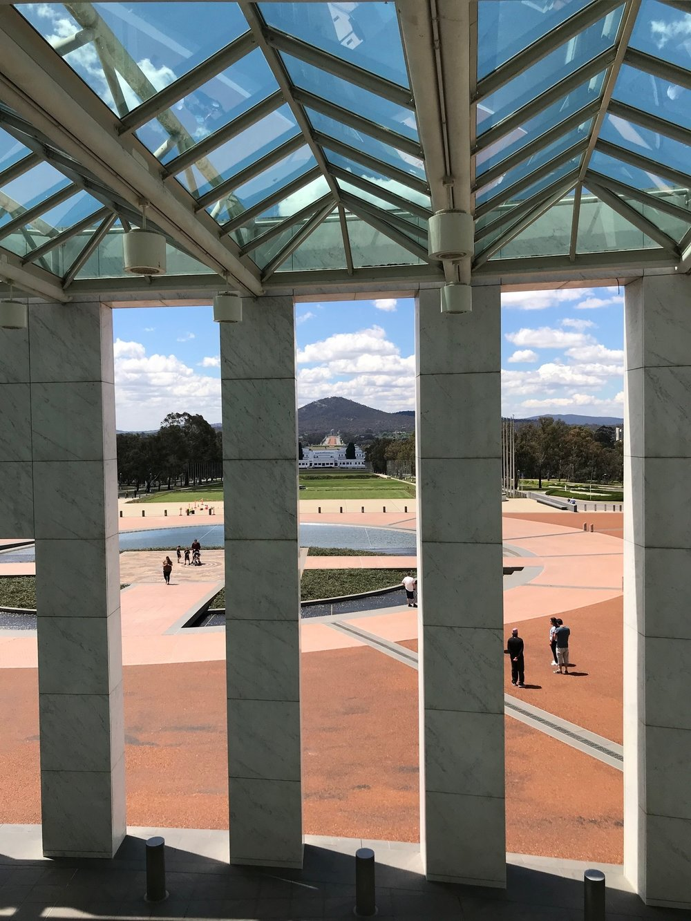 The view from Parliament House, Canberra