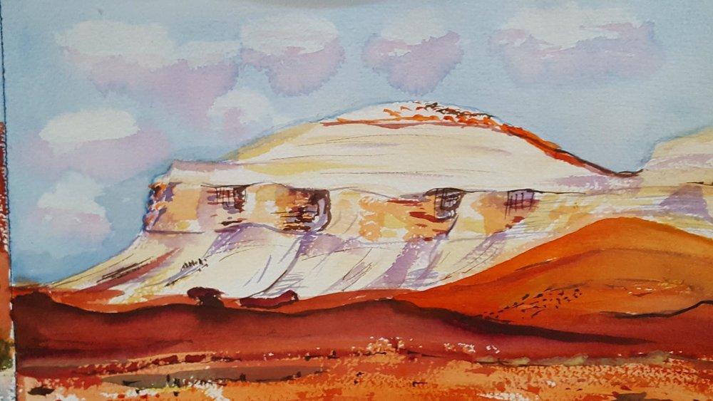Australian desert painted by Josie.