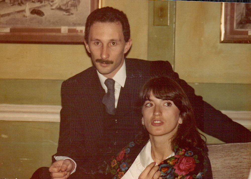 Richard and Slobodanka, Mount Nelson Hotel, Cape Town, 1980