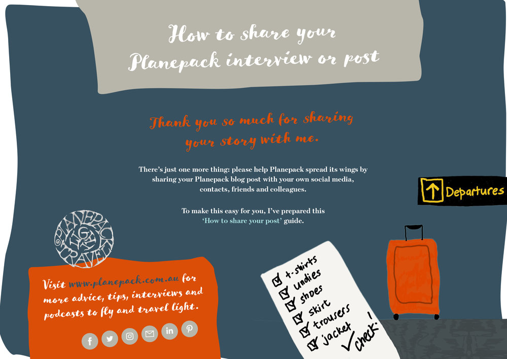How to share your Planepack post