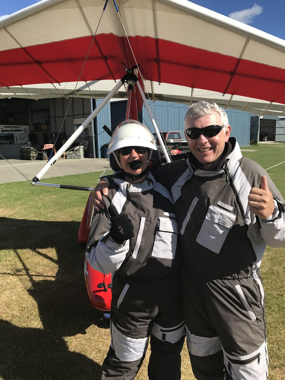 Microlight flight in New Zealand