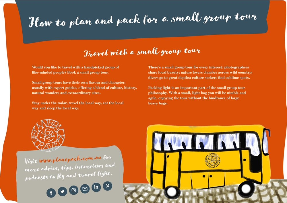 How to plan and pack for a small group tour - your handy guide