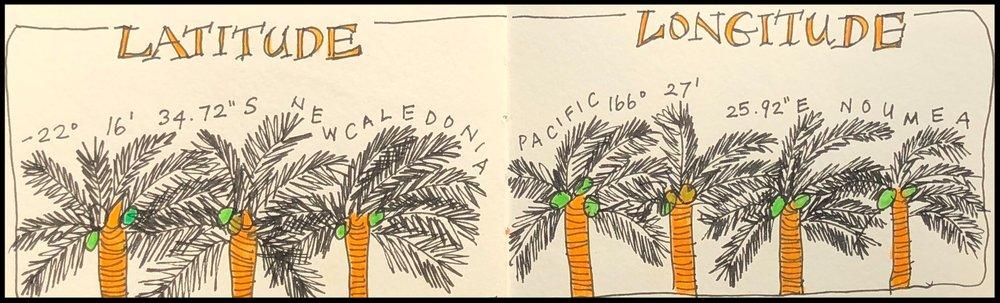 Latitude and longitude of New Caledonia