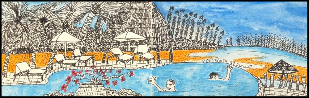 Poolside at Le Meridien Ile des Pins.