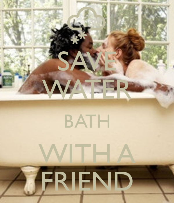 Planepack: save water bath with a friend poster